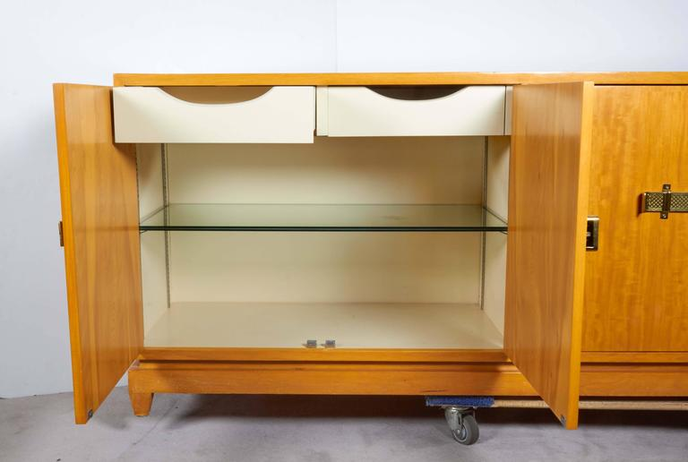 Mid-Century Modern Tommi Parzinger Bleached Mahogany Sideboard For Sale