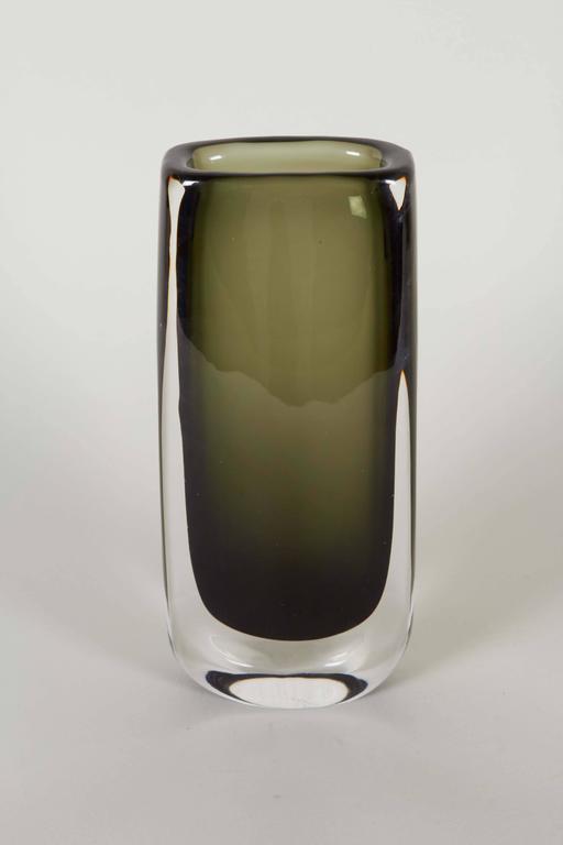 Nils Landberg Cased Glass Vase For Orrefors At 1stdibs