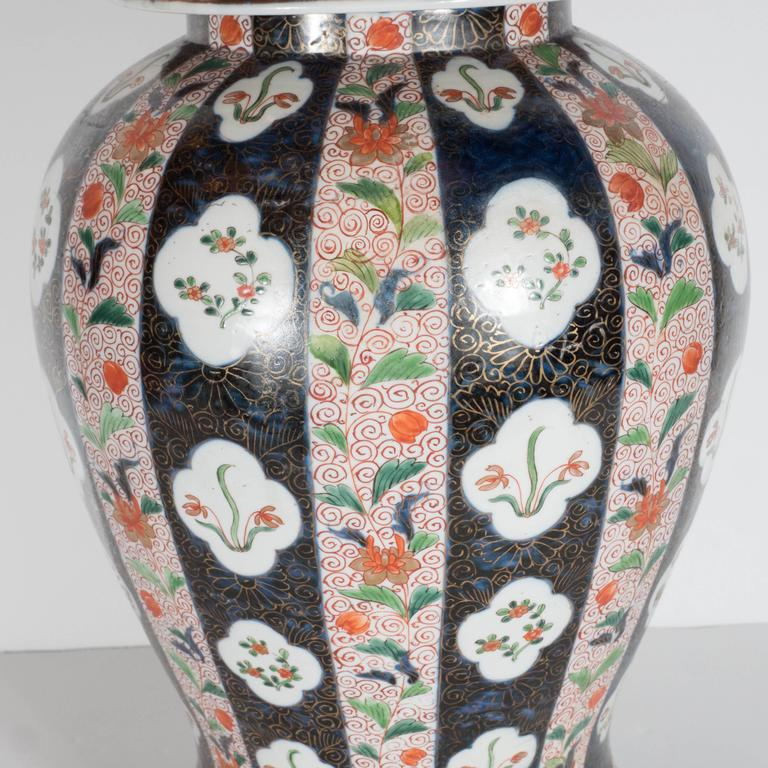 Early 1900s Large-Scale Antique Chinese Porcelain Famille Verte Lidded Vases / Urns For Sale