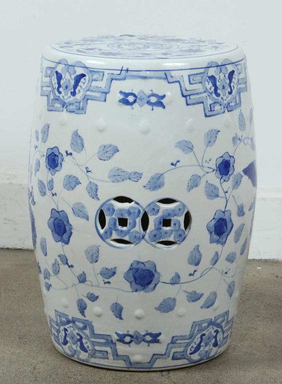 white square ceramic garden stool cheap blue home goods