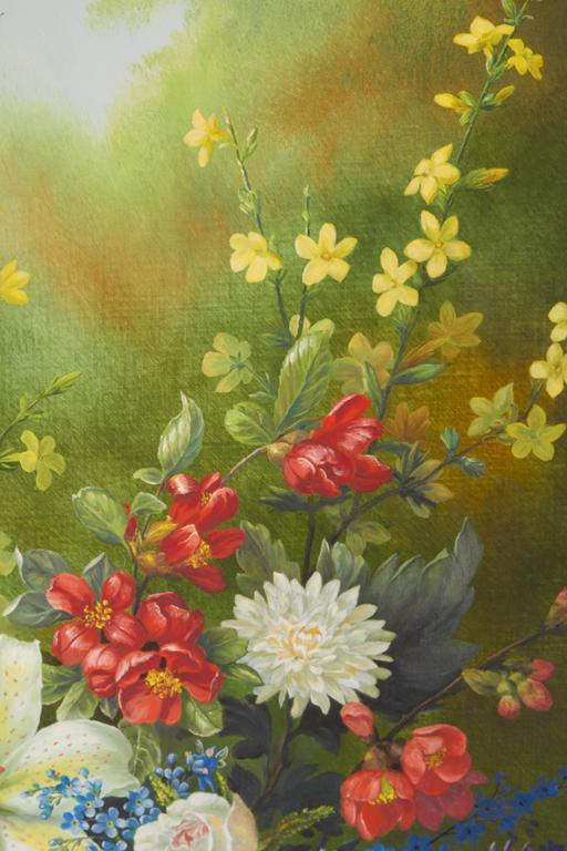 Ethelwyn Shiel Still Life Floral Painting In Excellent Condition For Sale In New York, NY