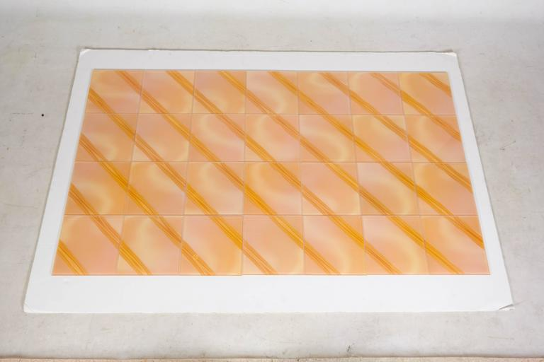 Wonderful Optic Art Glass Wall Tiles In Good Condition For Sale In New York, NY