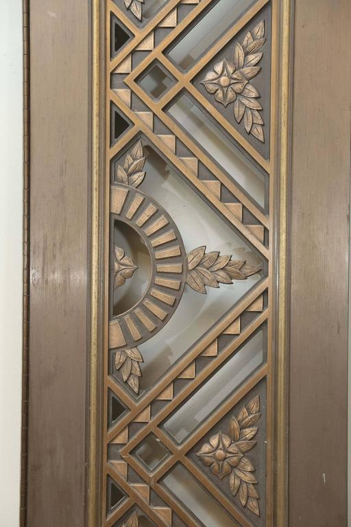 Mid-20th Century Two French Art Deco Bronze/Copper Doors For Sale