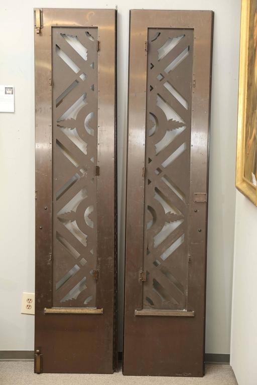Two French Art Deco Bronze/Copper Doors For Sale 1
