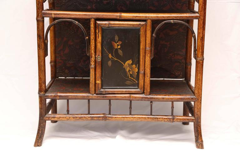 Fine English 19th English Bamboo Etagere 2