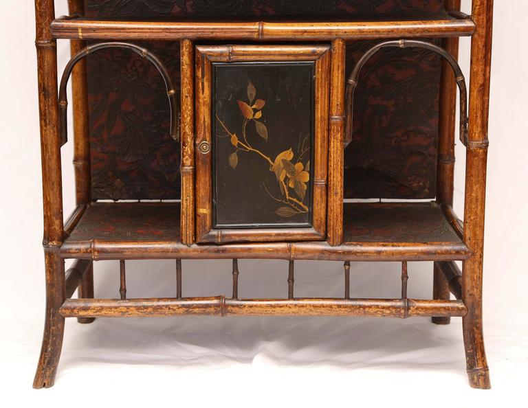 Fine English 19th English Bamboo Etagere 3