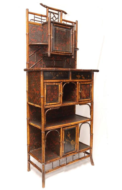 Fine English 19th English Bamboo Etagere 4