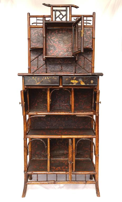 Fine English 19th English Bamboo Etagere 6