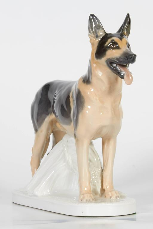 Meissen Porcelain Figure of German Shepherd Dog For Sale 1