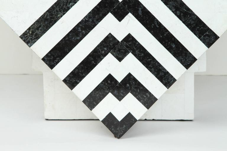 American Tesselated Marble Box by Maitland-Smith For Sale