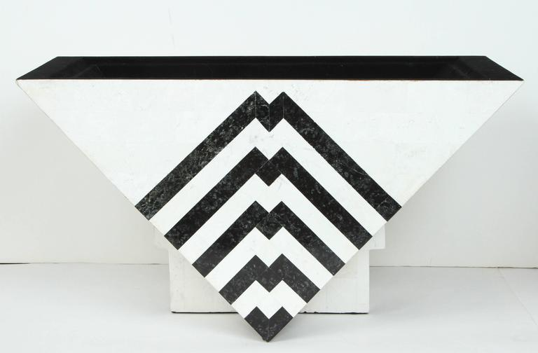 Late 20th Century Tesselated Marble Box by Maitland-Smith For Sale