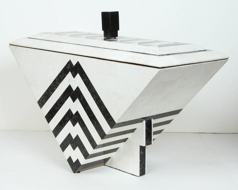 Tesselated Marble Box by Maitland-Smith For Sale 1