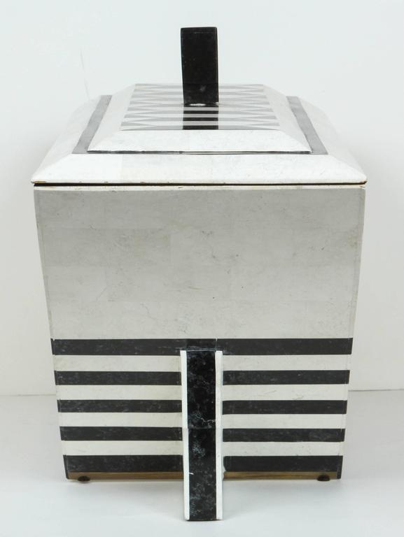 Tesselated Marble Box by Maitland-Smith For Sale 2