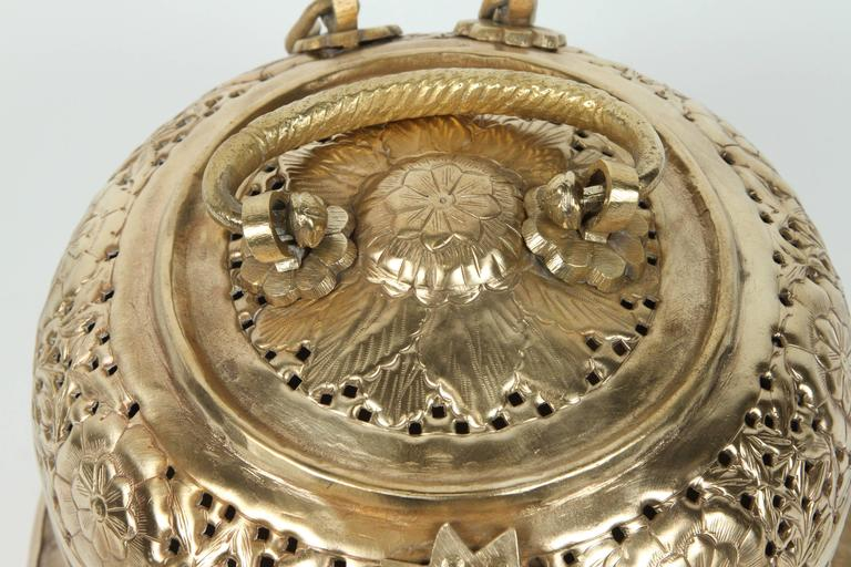 Anglo-Indian Polished Brass Pierced Box For Sale 1