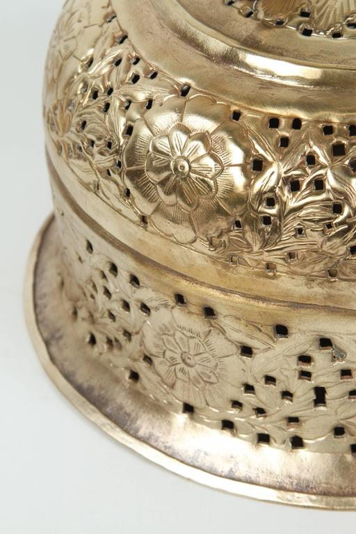 Anglo-Indian Polished Brass Pierced Box For Sale 3