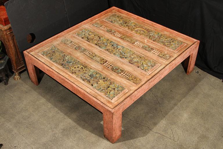 Stunning large moroccan pink coffee table for sale at 1stdibs Moroccan coffee tables