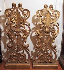 Pair of Italian Gilt Wood Carved Elements