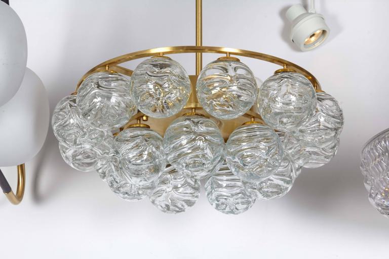 Scandinavian Modern Doria Glass Sphere Pendant Chandelier For Sale