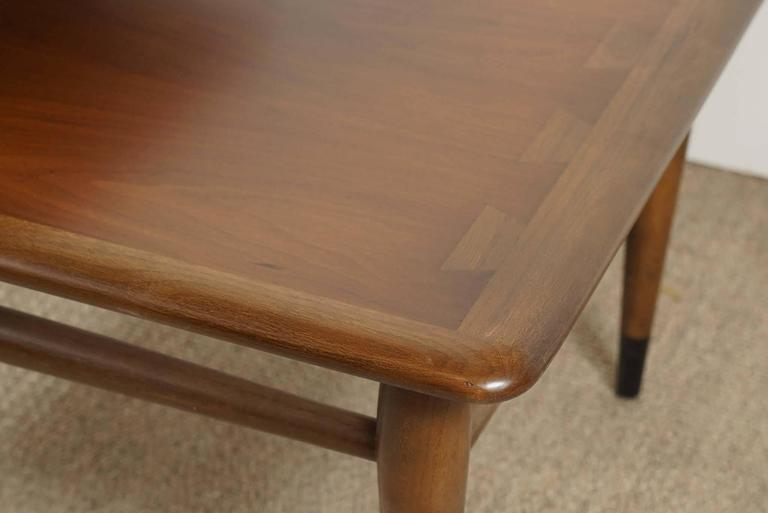 Pair of Lane Two-Tiered End Tables in Walnut For Sale 2