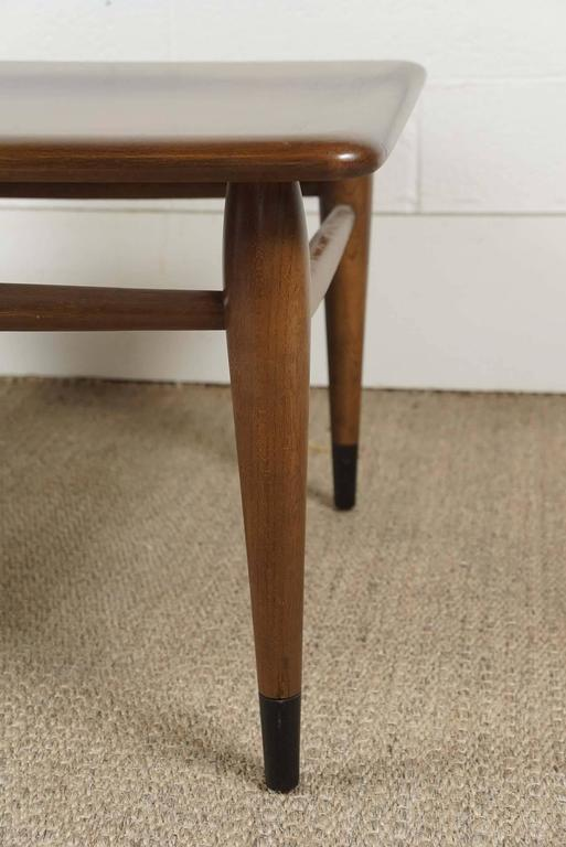 Pair of Lane Two-Tiered End Tables in Walnut For Sale 3