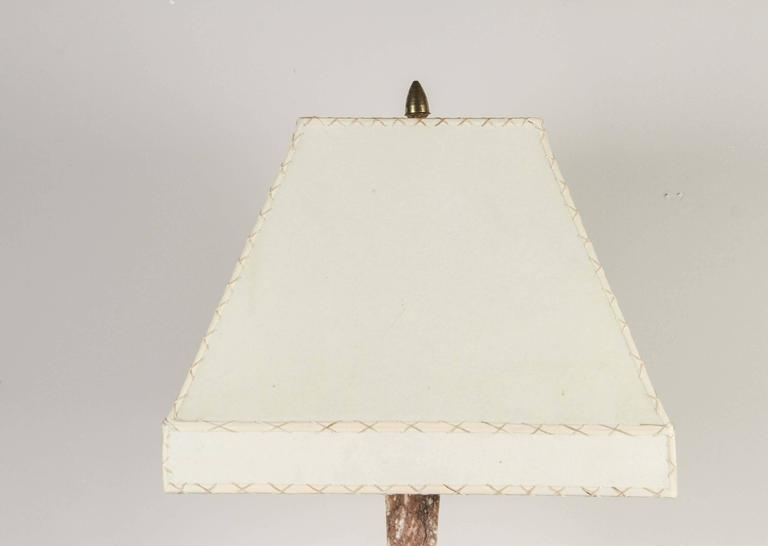 Italian Marble Table Lamp, circa 1920s 2