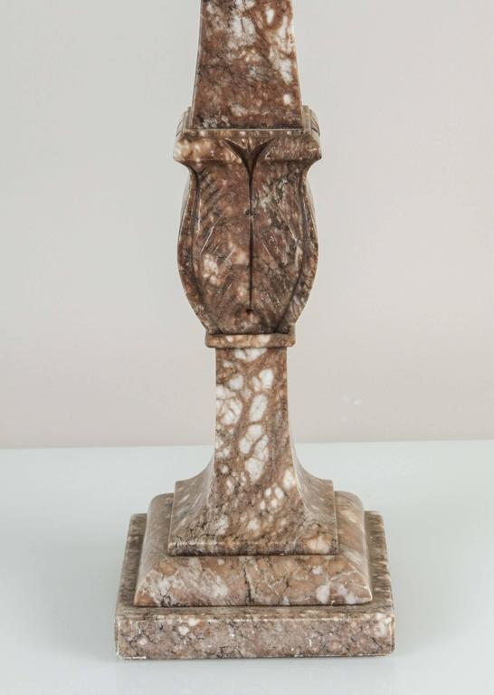Neoclassical Italian Marble Table Lamp, circa 1920s For Sale