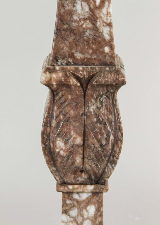 Italian Marble Table Lamp, circa 1920s In Excellent Condition For Sale In Los Angeles, CA