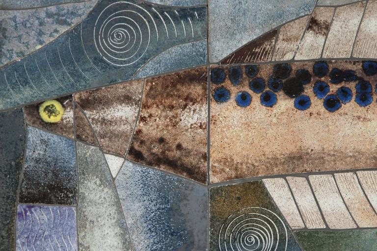 Mid-Century Modern Mid-Century Framed Fish Tile For Sale