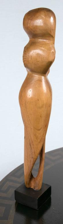 Mid-Century Wood Sculpture For Sale 1