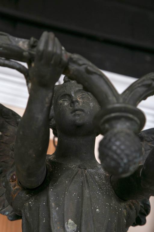Victorian Pair of Bronze Sconces For Sale