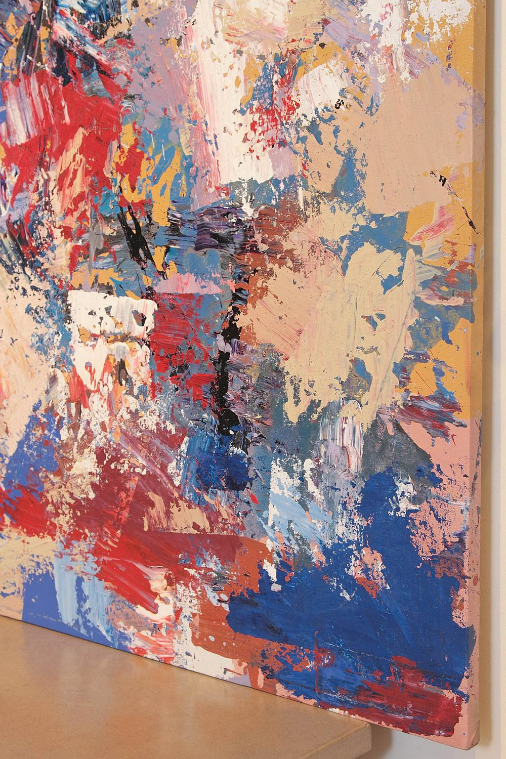 Original large oil abstract painting for sale at 1stdibs for Original abstract paintings for sale