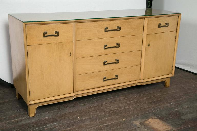 Light wood century furniture credenza, sideboard or buffet.