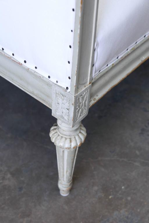 Swedish 19th Century Gustavian Style Original Pale Green Painted Sofa from Sweden For Sale