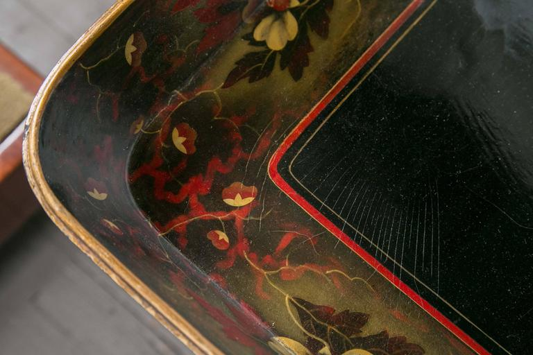 20th Century Lacquer Tray on Custom Stand For Sale
