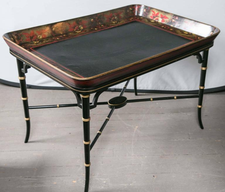Lacquer Tray on Custom Stand For Sale 1