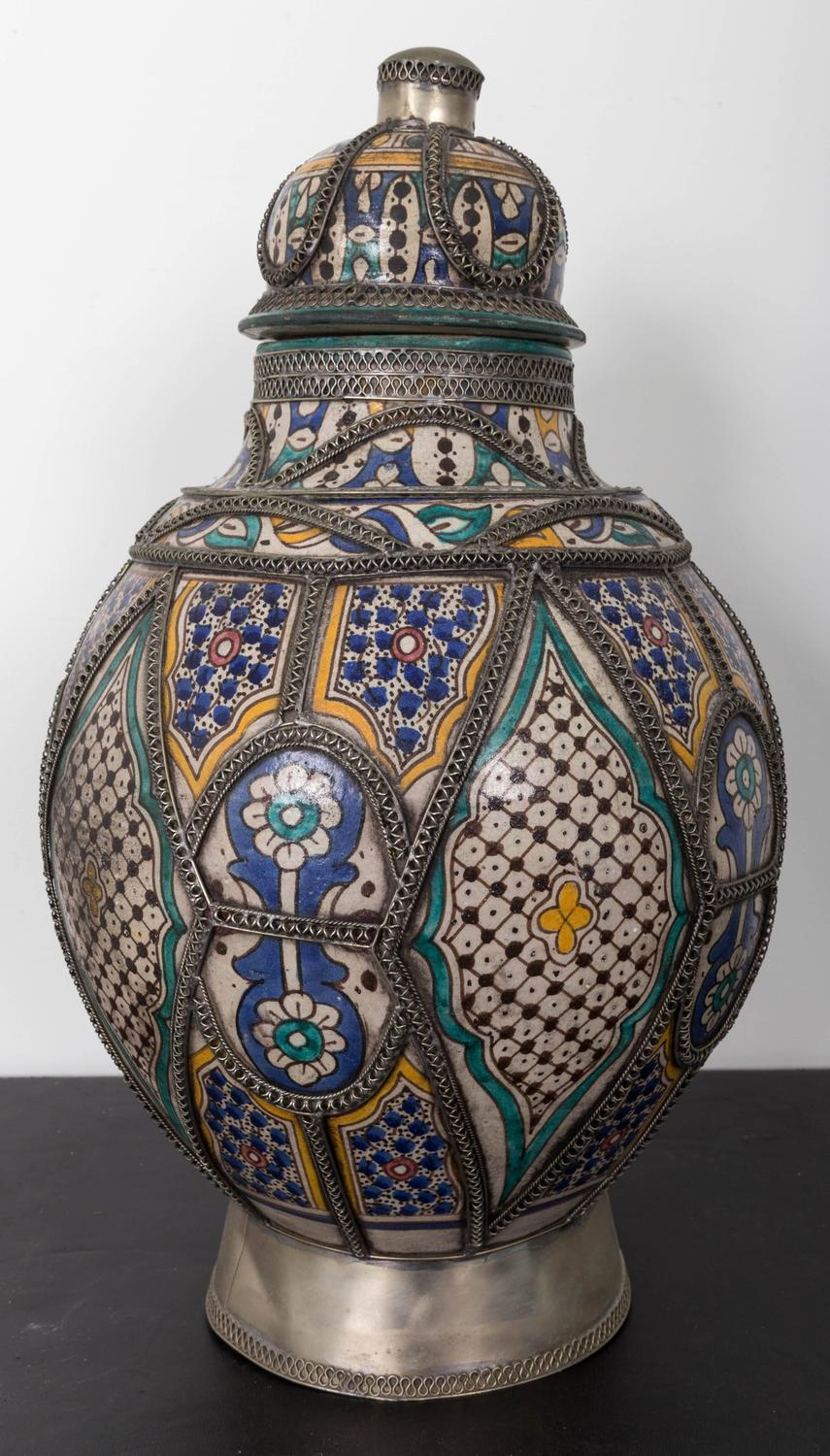 Antique Moroccan Urn From Fez For Sale At 1stdibs