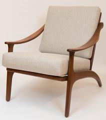 Pair of Mid Century Teak Lounge Chairs From Denmark