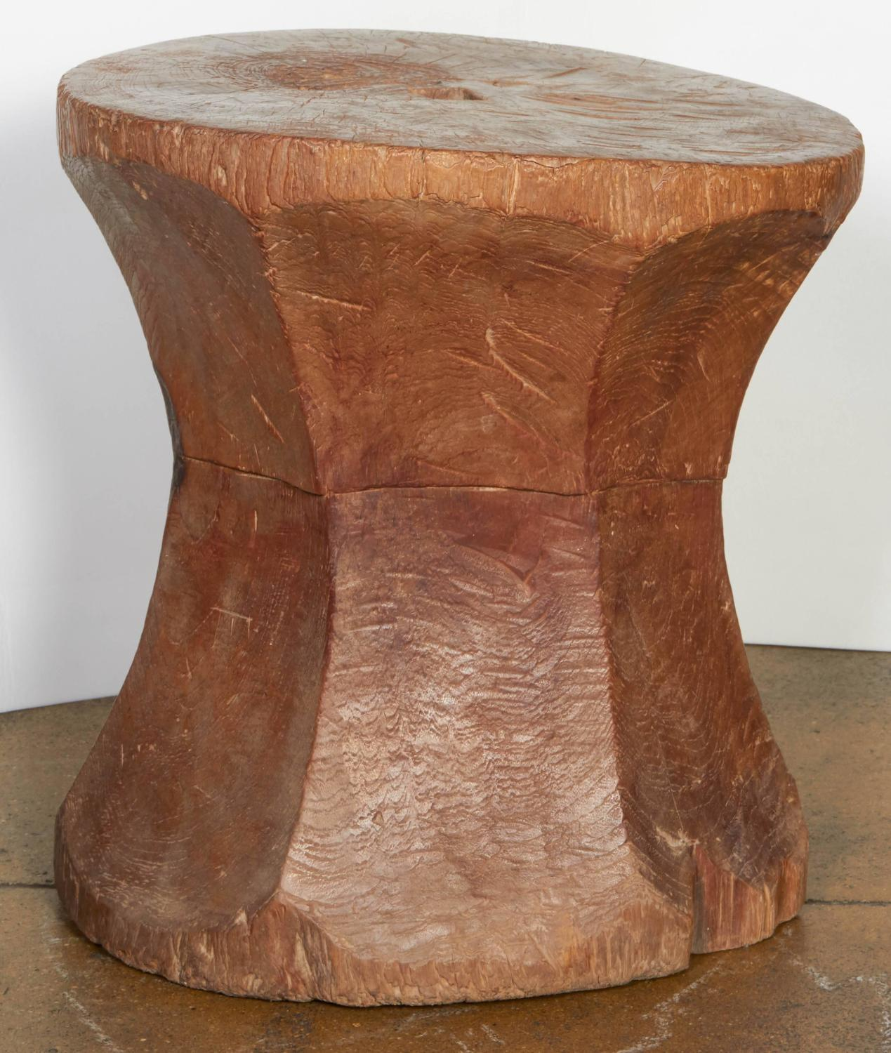 Carved hour glass end table for sale at stdibs