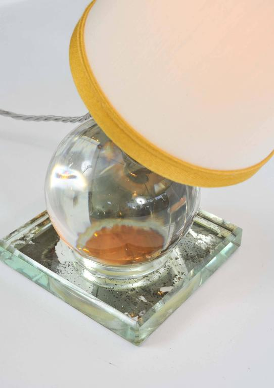 1930s Crystal Ball Lamp by Jacques Adnet In Excellent Condition For Sale In London, GB