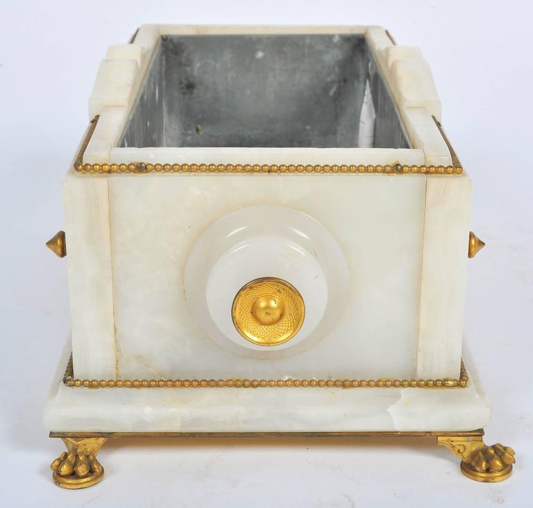 19th Century Marble and Champlevé Enamel Jardinière For Sale 4