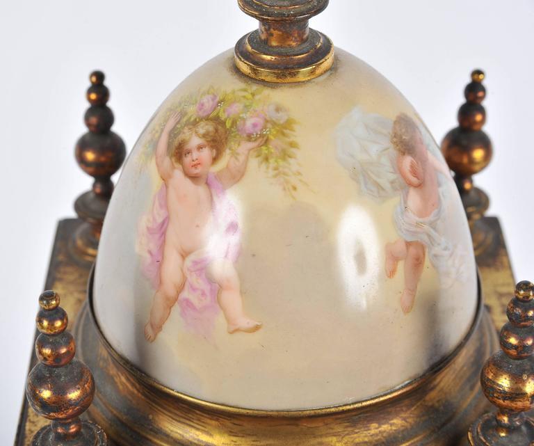 Porcelain 19th Century Mantel Clock For Sale