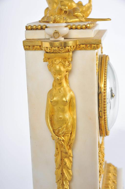 19th Century French Mantel Clock, Louis XVI style, by Festeau, Paris For Sale 1