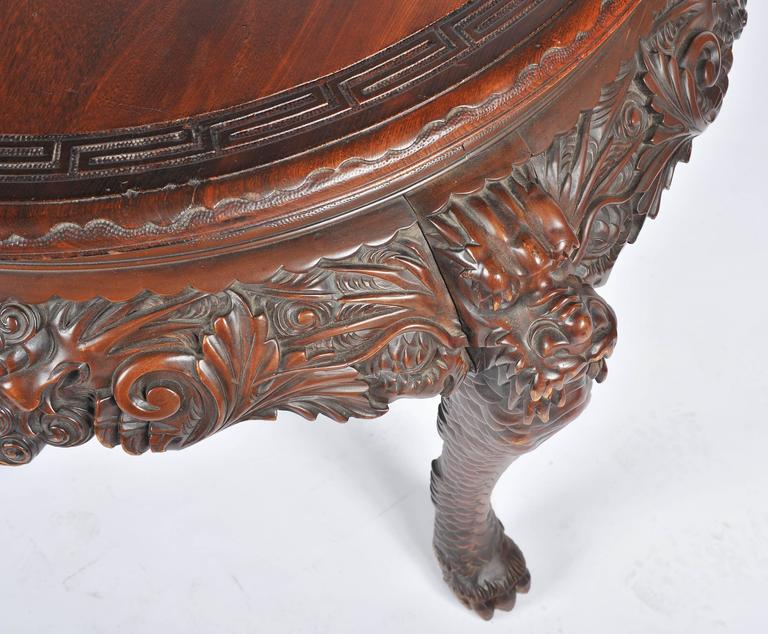 Oriental Carved Centre Table, 19th Century In Good Condition For Sale In Brighton, Sussex