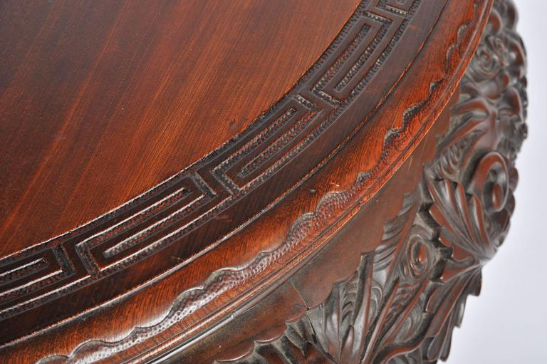 Wood Oriental Carved Centre Table, 19th Century For Sale