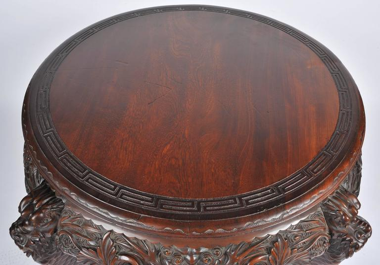 Oriental Carved Centre Table, 19th Century For Sale 1