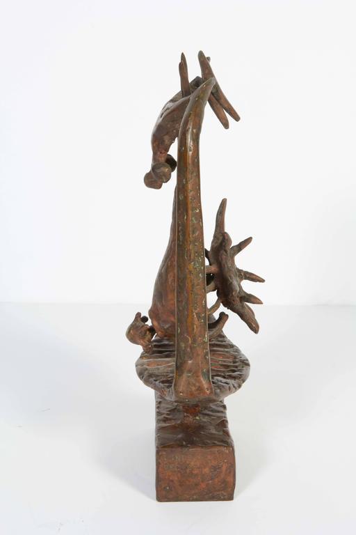American Lindsey Decker Untitled Bronze Sculpture, Signed For Sale