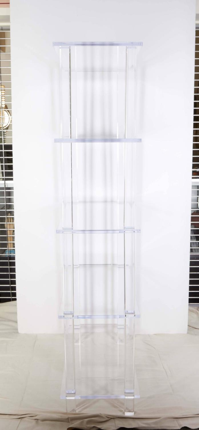 tall clear lucite etagere for sale at 1stdibs. Black Bedroom Furniture Sets. Home Design Ideas