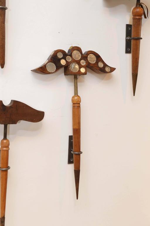 Antique 19th Century Folk Art Bird Hunting Tool And Decoy