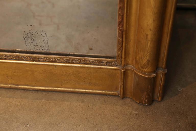 19th Century Louis Philippe Gilt Mirror For Sale 1