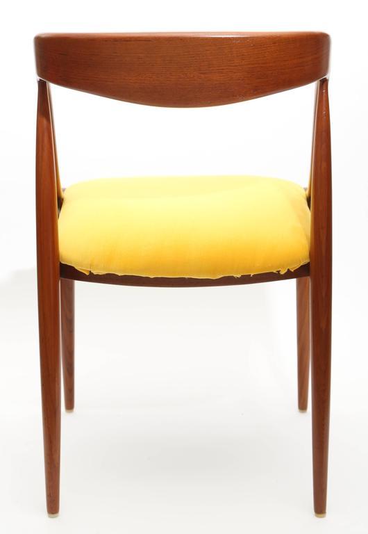 Pair Of Johannes Andersen Teak Chairs 1960s Denmark For
